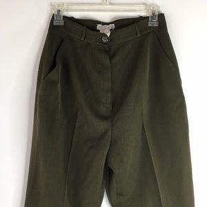 Vintage Karl Lagerfeld olive green military pants